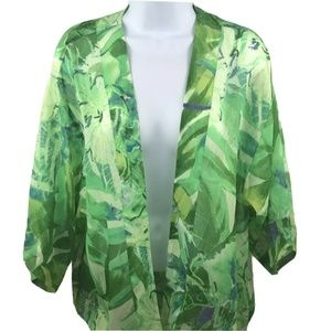 Chico's Travelers Sheer Shawl Cover Up Wrap Floral
